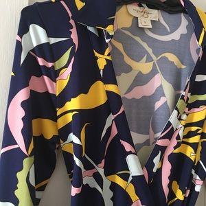 Wrap print dress